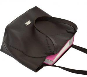 Große Shopping Bag braun Leder für Business & Freizeit von ninok.