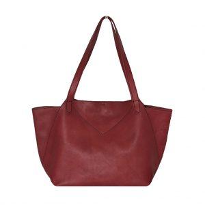 Shopping Bag XL aus Leder handgefertigt Ledertasche mit Henkel von ninok.