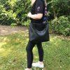 Ledertasche schwarz Umhängetasche Damen und Herren Shopper. Mit Henkel und Schulterriemen. Große Handmade Tasche.